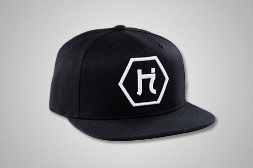 The Hex logo Snapback in Black